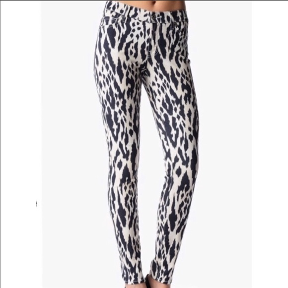 7 For All Mankind Denim - 7 For All Mankind | Leopard Skinny Jeans